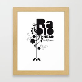 Last flowers Song - Radiohead - black version Framed Art Print
