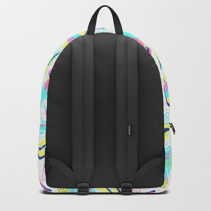 80s Flashback Tropical Fun Backpack
