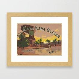 Kara Kara Bazaar Framed Art Print