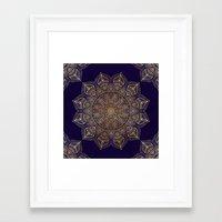 islam Framed Art Prints featuring Gold Mandala by Mantra Mandala