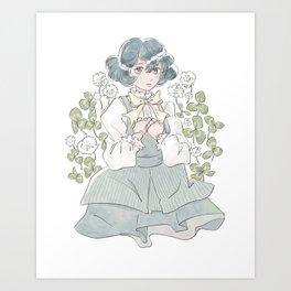 Trifolium repens Art Print