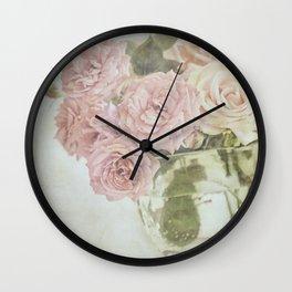 Between roses. Wall Clock