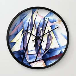 Sail In Two Movements After Charles Demuth Wall Clock
