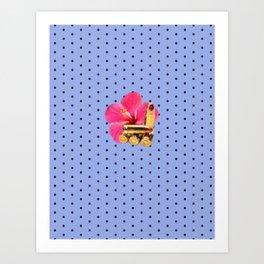 9mm Hibiscus Dots Art Print