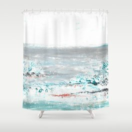 Scenic Impressions: FOSSIL BEACH Shower Curtain