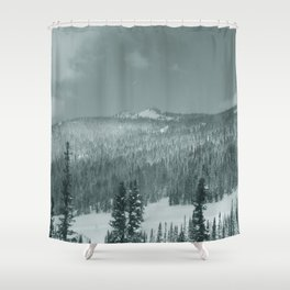 Winter day 28 Shower Curtain