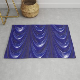 Decadent drapery, inky blue Rug