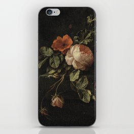 Botanical Rose And Snail iPhone Skin