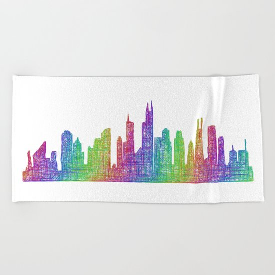 Chicago Beach Towel