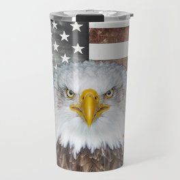 American Bald Eagle Patriot Travel Mug