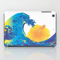 hokusai iPad Cases featuring Hokusai Rainbow & Hibiscus_Y  by FACTORIE