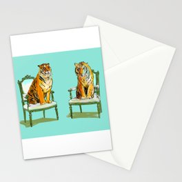 animals in chairs # 21 The Tigers Stationery Cards