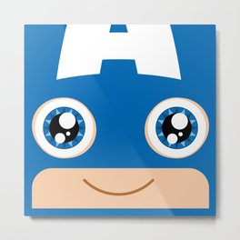Adorable Captain Metal Print