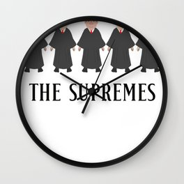 THE SUPREMES Supreme Court Justices Wall Clock