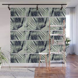 Green Palm Leaves Pattern #1 #decor #art #society6 Wall Mural