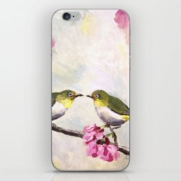 Japanese White Eye Birds iPhone Skin