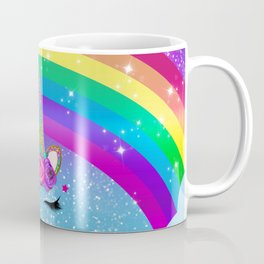 Rainbow Sparkle Unicorn Coffee Mug