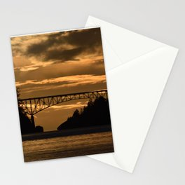 Deception Pass Bridge Sunset Stationery Cards