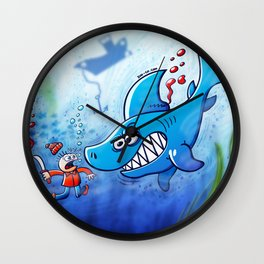 Sharks are Furious, Stop Finning! Wall Clock