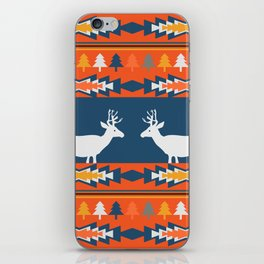 Deer winter pattern iPhone Skin