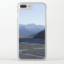 braided rivers Clear iPhone Case