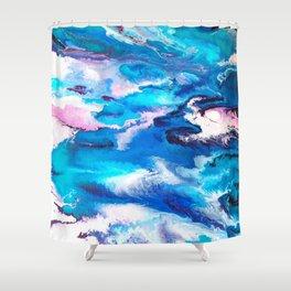 Turuoise Flow Shower Curtain