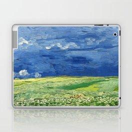 Wheatfield under thunderclouds by Vincent van Gogh Laptop & iPad Skin