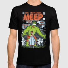 Incredible Meep LARGE Mens Fitted Tee Black
