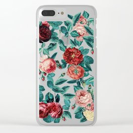 Vintage Roses Round Clear iPhone Case