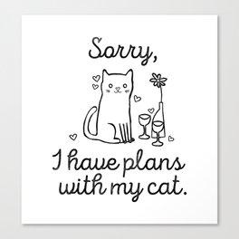 Cat Plans Canvas Print