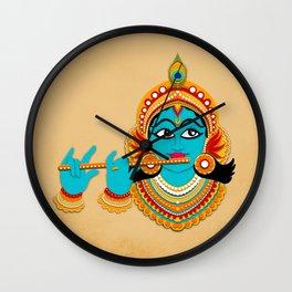 Paper cut out Krishna art Wall Clock