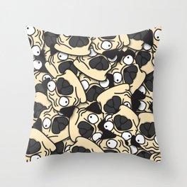 PUGS! Throw Pillow