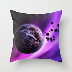 Deep Purple Space Throw Pillow