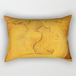 Flaming Passion - Love Couples Rectangular Pillow