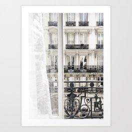 Paris window view Art Print