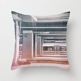 street photo WAITING #street #photo Throw Pillow