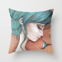 infinity Throw Pillows featuring Infinity by Alessandra Fusi