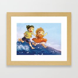 Ponyo - fan art Framed Art Print