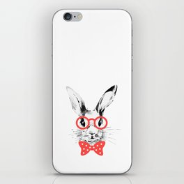 Hipster Bunny iPhone Skin
