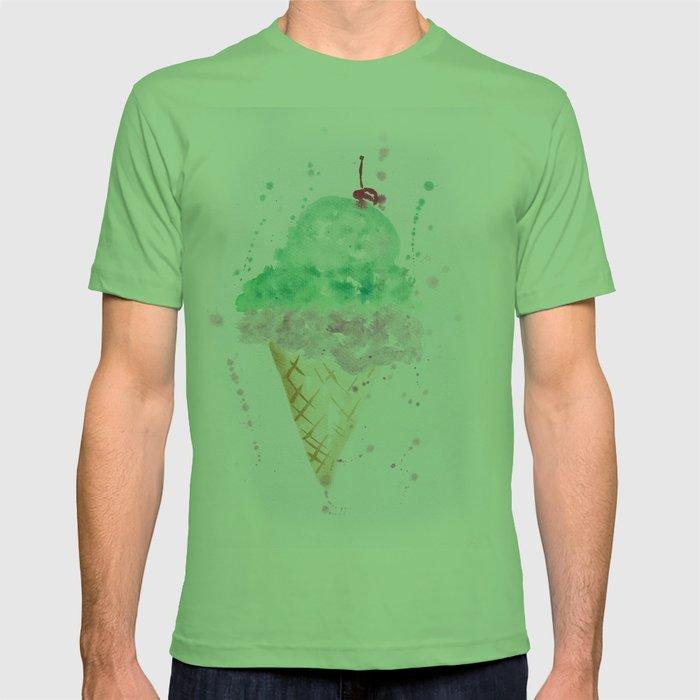 5c54dd3ac81 Icecream Summer love Cherry illustration ice cream cone watercolor T-shirt  by ioanaphotography