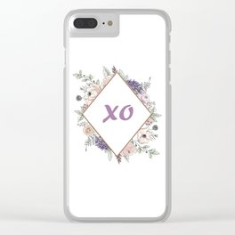 Lettering and Watercolor Flowers #2 Clear iPhone Case