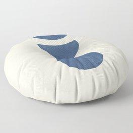 Lunar Phase - Blue Floor Pillow