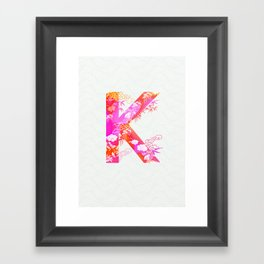 K_ Framed Art Print