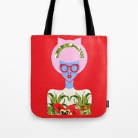 fern Tote Bags featuring Fern  by The Pairabirds