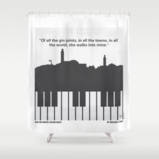 No192 My Casablanca minimal movie poster Shower Curtain
