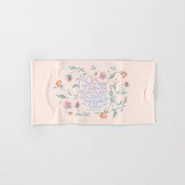 My Grace is Sufficient - 2 Corinthians 12:9 / rose pink Hand & Bath Towel