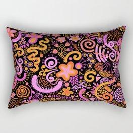 Pink Orange Yellow Zendoodle Rectangular Pillow