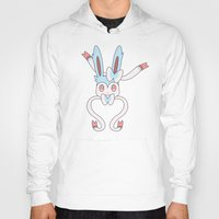sylveon Hoodies featuring Shiny Sylveon Heart by Sarah Anne Cimaglio