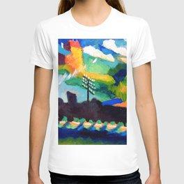 Wassily Kandinsky - Railroad at Murnau T-shirt
