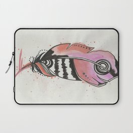 Pink and Orange Feather Laptop Sleeve